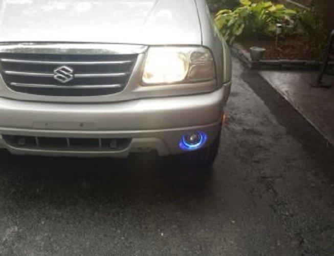 2001-2006 Suzuki XL-7 White Halo Fog Lamps Driving Lights Kit