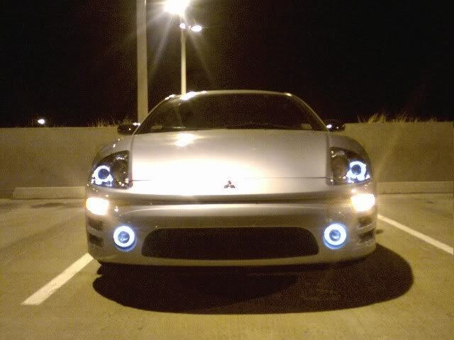 2002-2005 Mitsubishi Eclipse Halo Fog Lamps Angel Eyes