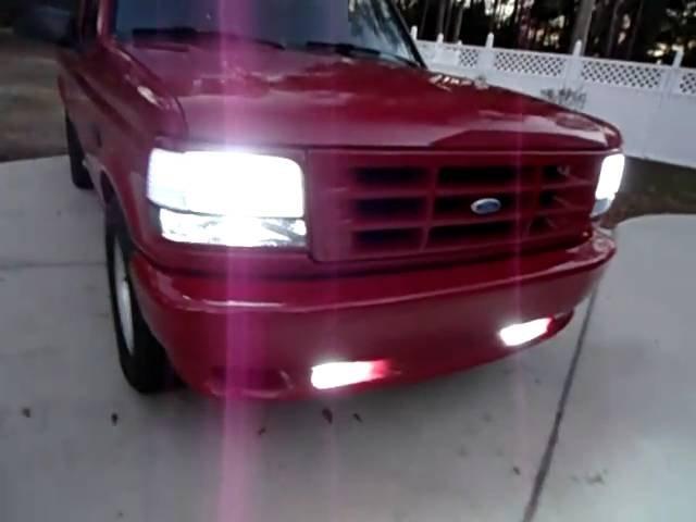 1993 1994 1995 Ford F150 SVT Lightning Fog Lamps Driving Lights