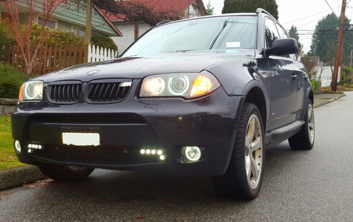 2004 2005 bmw x3 us halo fog lamp driving light kit e83 angel eyes. Black Bedroom Furniture Sets. Home Design Ideas