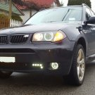 2004 2005 BMW X3 US Halo Fog Lamp Driving Light Kit E83 Angel Eyes