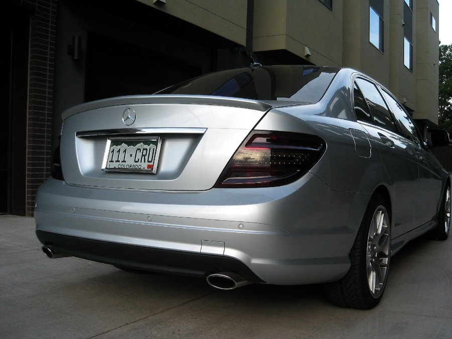 2008-2015 Mercedes C-Class Tinted Taillamps Overlay Film Kit w204