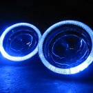 "Univerasal Headlight 4"" Blue LED Addon Angel Eye Halo Headlamp Rings"