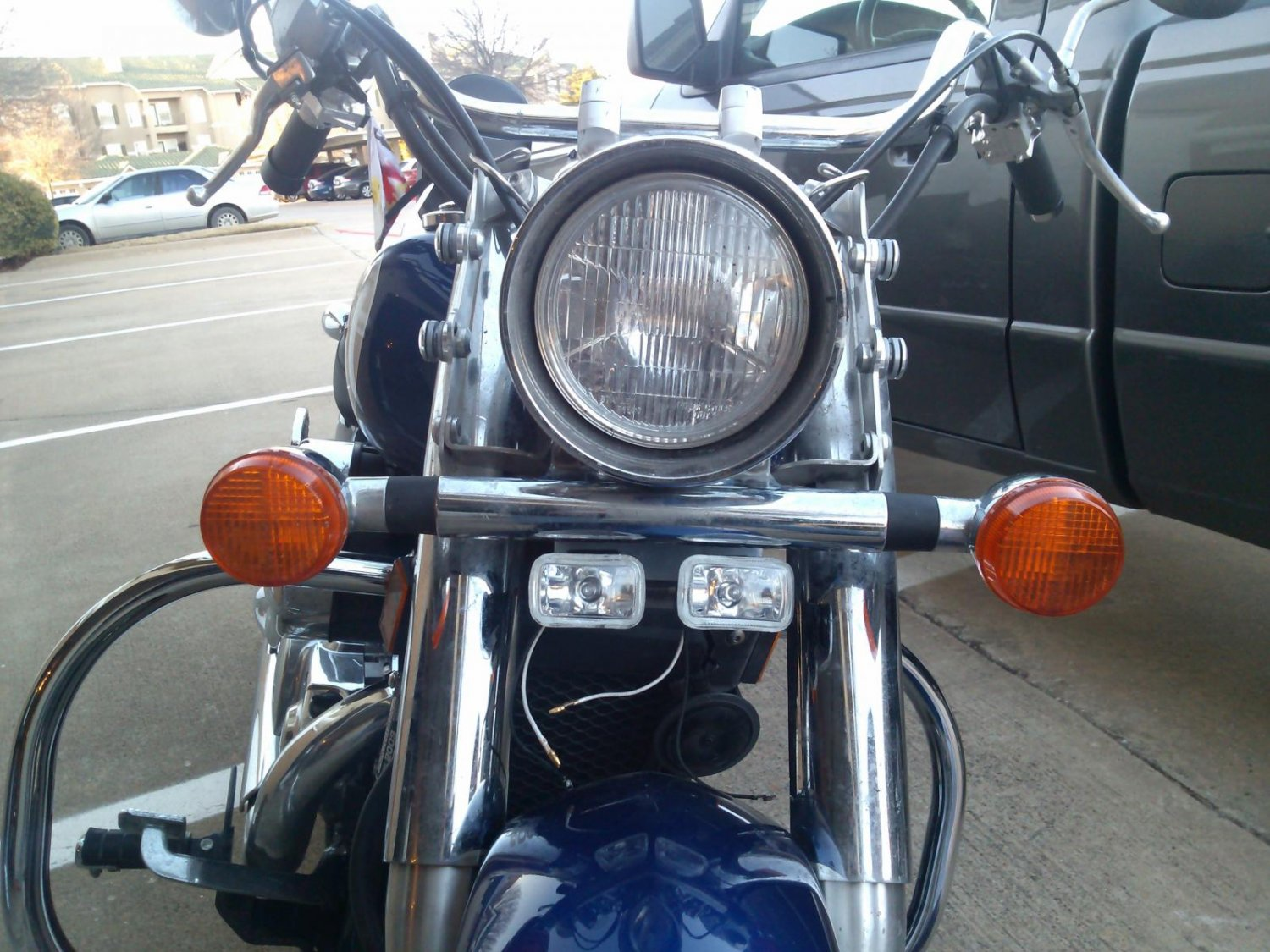 Honda Shadow Hella Fog Lamps Driving Lights Kit