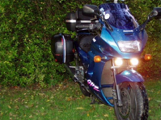 Kawasaki GPZ1100 Micro Hella Driving Lights Fog Lamps Kit