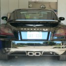 Chrysler Crossfire Smoked Tail Light Overlays Tinted Lamp Film Covers