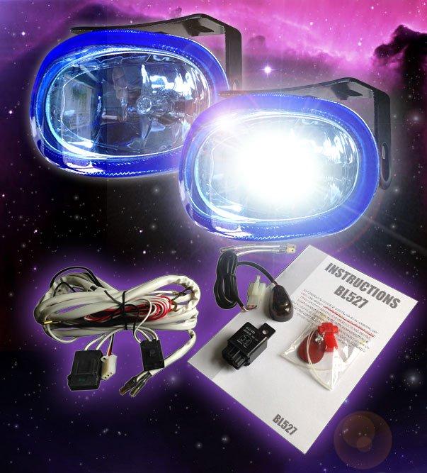 Oval 55w Chrome Super White Xenon Driving Light Fog Lamp Kit