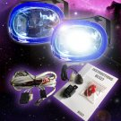 Oval 55w Chrome Super White Xenon Driving Light Fog Lamp Kit