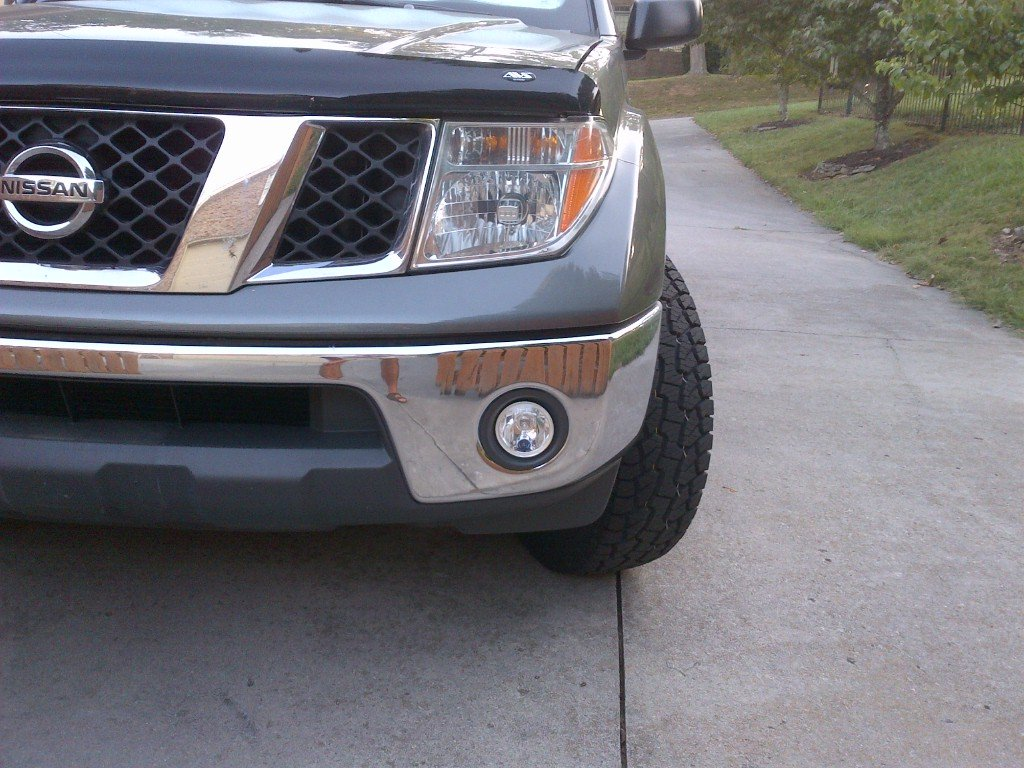 Metal Bumper Kit : Nissan frontier fog lamps driving lights plastic