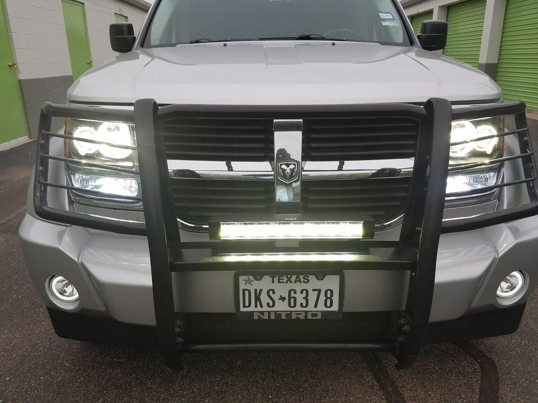 """Dodge Nitro PIAA 6000K 18"""" 64W LED Hybrid Fog or Driving Light Bar"""