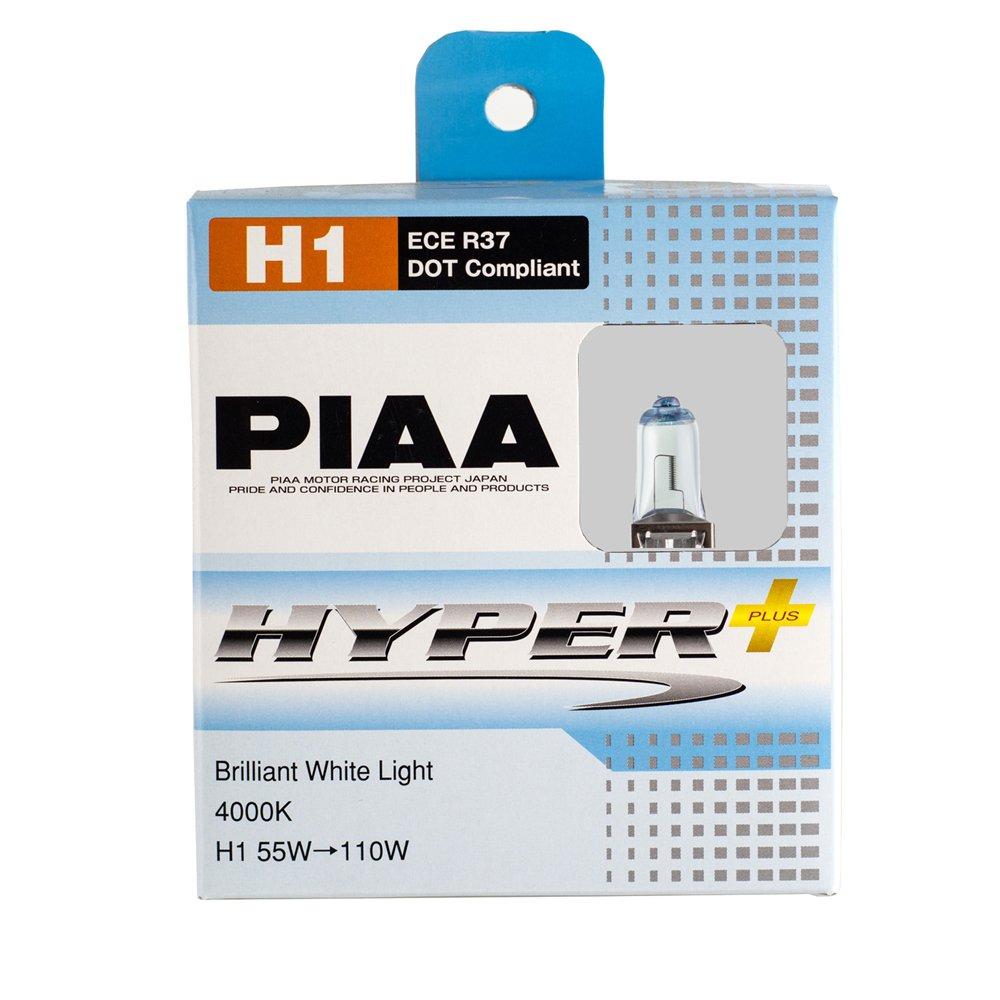 PIAA H1 Hyper Plus 4000K Xtra 55w=110W Brilliant White Light Bulbs Twin Pack