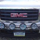PIAA Black 4x Lamp Bumper Bar for 2007-2013 GMC Sierra 1500 Front