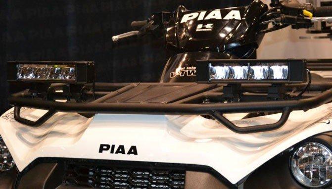 Kawasaki Brute Force PIAA RF6 6000K 16W Hybrid Fog Driving LED Light Bar Kit