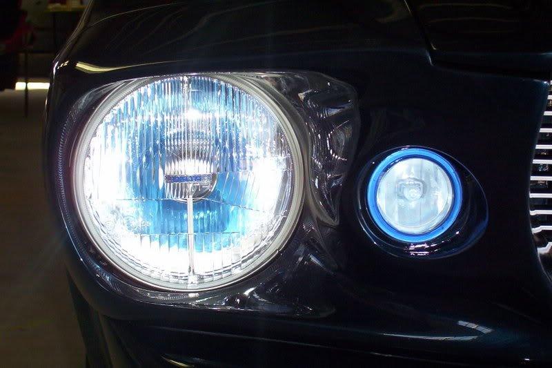 Ford Mustang Eleanor Blue Lens Fog Lamps Lights ( OEM Style )
