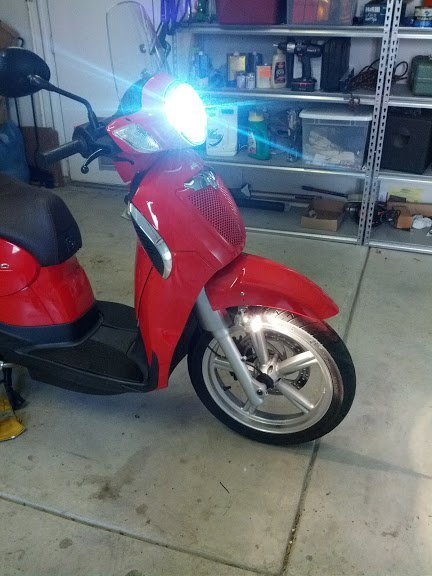Aprilia Scarabeo Xenon HID Head Light Lamp Conversion Kit (all years)