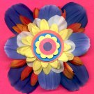 #CLIP-147: Paper Wheel Flower Hair Clothing Accessories Clip, Pin and Ponytail Holder