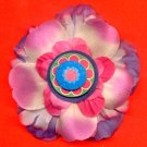 #CLIP-158: Paper Wheel Flower Hair Clothing Accessory Clip, Pin and Ponytail Holder