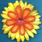 #CLIP-39: Beaded Sequin Flower Hair Clothing Accessories Clip, Pin and Ponytail Holder