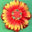 #CLIP-67: Sequin Flower Hair Clothing Accessory Clip, Pin and Ponytail Holder