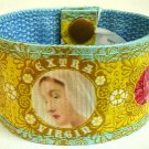 #BRAVM-01: Extra Virgin Mary Snap Cuff Bracelet