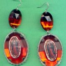 #EARVM-02:  Jumbo Jewel Virgen of Guadalupe Earrings