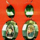 #EARSH-03: Jumbo Jewel Sacred Heart Of Jesus & Mary Earrings