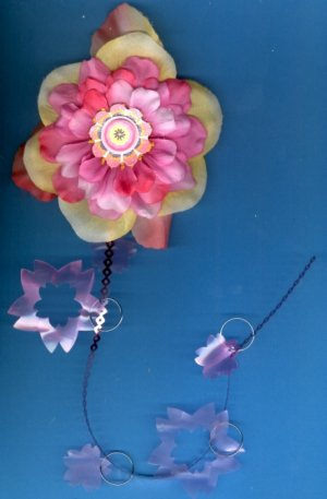 #HGCLIP-40: Flirty Flower Hair Clothing Accessory Clip, Pin and Ponytail Holder