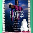 #WALLPLAQUE-02: Hand decorated LOVE Glow in the Dark Wall Plaque Picture