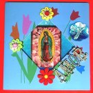 #WALLPLAQUE-06: Hand decorated Virgin of Guadalupe Wall Plaque or Picture Stand