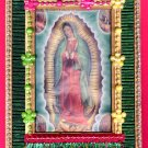 #WALLPLAQUE-18: Hand decorated Virgin of Guadalupe Wall Plaque