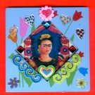 #WALLPLAQUE-24: Hand decorated Frida Wall Plaque