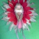 #CLIP-181: Pretty Bird Flower Hair Clothing Accessory Clip, Pin and Ponytail Holder