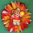 #CLIP-183: Teddy Bear Flower Hair Clothing Accessory Clip, Pin and Ponytail Holder