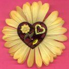 #CLIP-208: Embroidery Plaid Heart Flower Hair Clothing Accessory Clip, Pin and Ponytail Holder