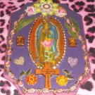 #WALLPLAQUE-29: Hand decorated Virgin of Guadalupe Wall Plaque