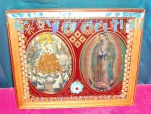 Folkart-08: Bless This Home Virgin Guadalupe Art