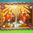 Folkart-15: Novelty Sacred Heart of Jesus & Mary Picture Wall Art