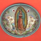 buckle-01: Virgin Of Guadalupe Image Belt Buckle