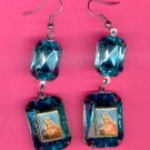 #EARSH-08: Sacred Heart of Mary Jumbo Gem Image Earrings