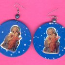 #EARVM-09: Sacred Heart of Mary Jumbo Paint Earrings
