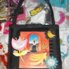 #npurse-03: Novelty Latina Women Collecting Food Black Purse