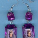 EARVM-10: Novelty Virgin Mary Guadalupe Jumbo Gem Fashion Earrings