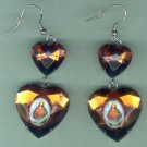 EARSH-10: Sacred Heart of Jesus Jumbo Gem Image Earrings