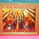 Folkart-21: Novelty Sacred Heart of Jesus & Mary Picture Wall Art