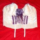 Crochet Ribbon Bow Flower Bustier Top