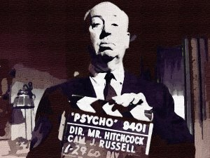 Alfred Hitchcock Poster Art Print size 8x10