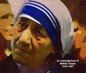 Mother_Teresa Poster Art Print size 8x10