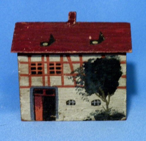 Antique German Erzgebirge Handcrafted Wood Village House