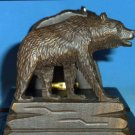 Vintage Black Forest Brienz Carved Wood Bears Expandable Bookends Book Slide Bookslide