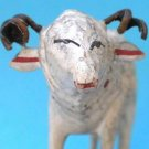 Antique Christmas Grulich Nativity Putz Sheep Ram Carved Wood Metal Horns Bohemia Folk Art